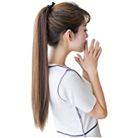 DEEKA ポニーテール エクステ ロング ストレート ウィッグ 長さ40cm/50cm/60cm 4色選び つけ毛