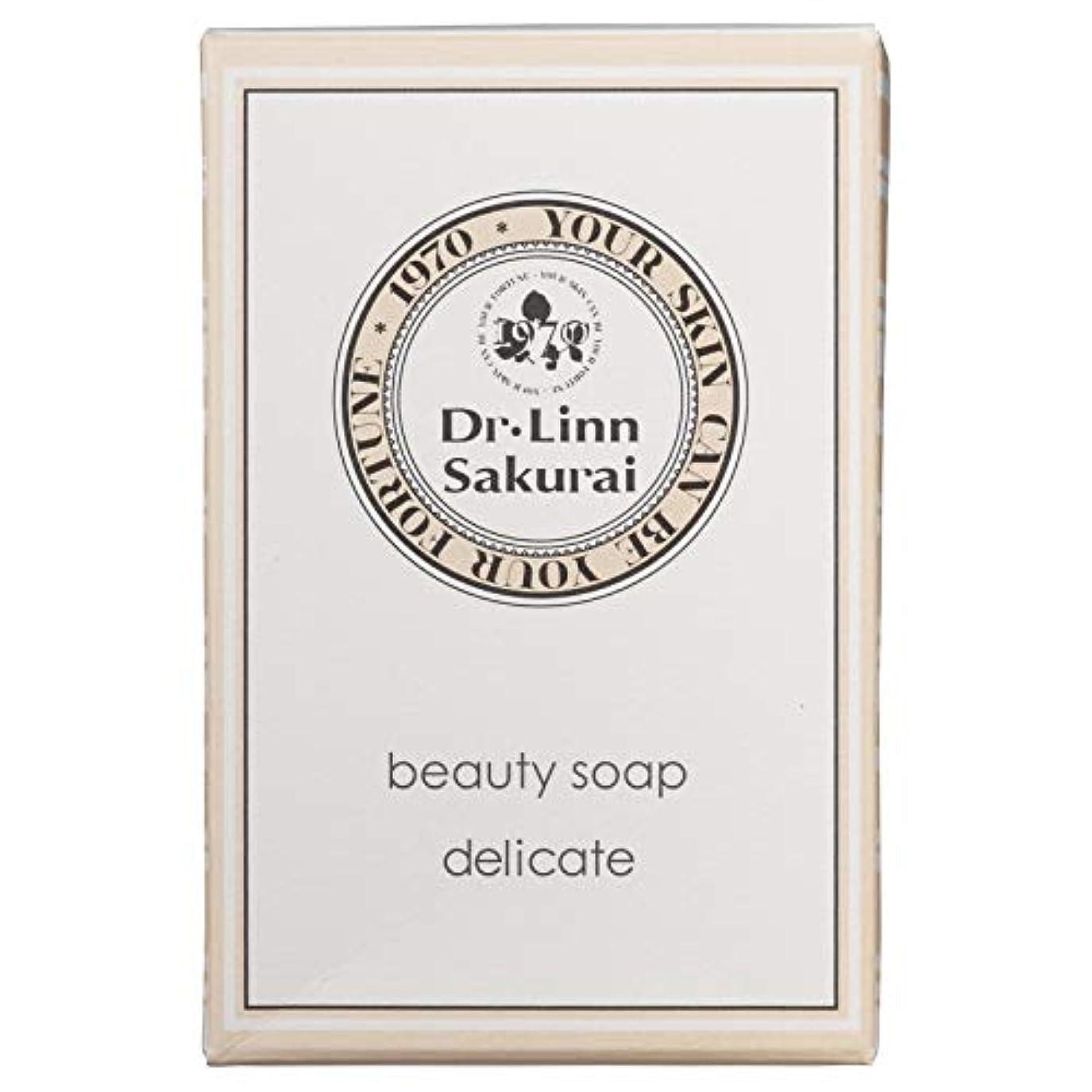 全滅させる水を飲む征服するドクターリンサクライ 洗顔石鹸 ビューティソープ デリケート (90g)