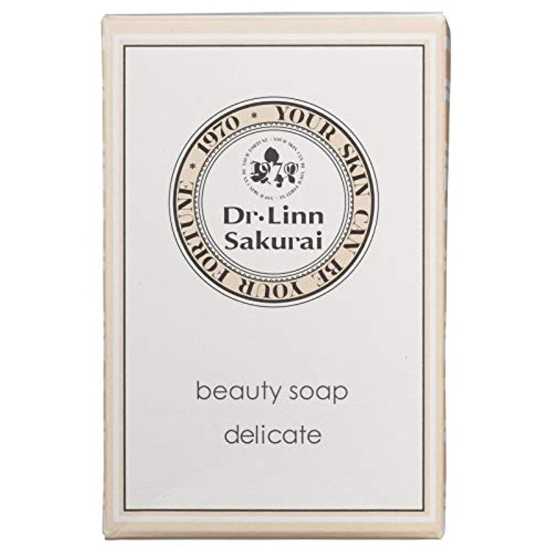 の配列承認するスリンクドクターリンサクライ 洗顔石鹸 ビューティソープ デリケート (90g)
