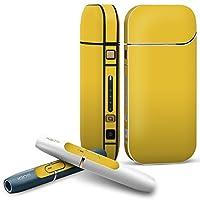 IQOS 2.4 plus 専用スキンシール COMPLETE アイコス 全面セット サイド ボタン デコ その他 シンプル 無地 黄色 008994