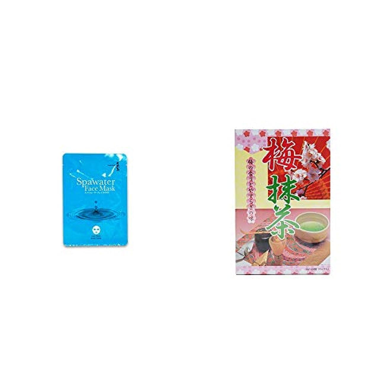 レコーダーキャリッジ近代化する[2点セット] ひのき炭黒泉 スパウォーターフェイスマスク(18ml×3枚入)・梅抹茶[大](24袋)