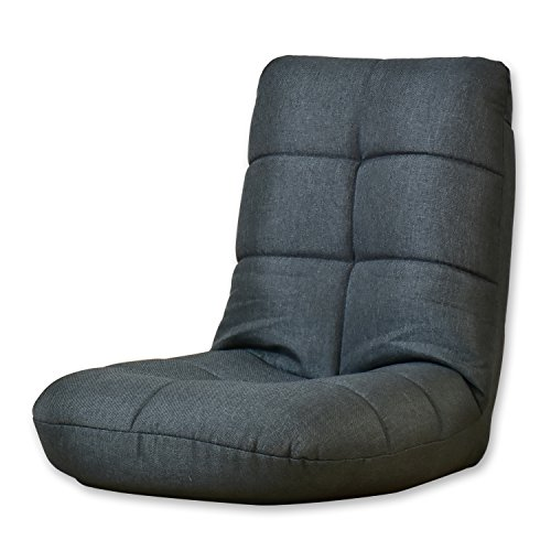 (DORIS) 座椅子 コンパクト 【ラッコミニ ブラック】 かわいい 折りたたみこたつ 軽量 パックン座椅子