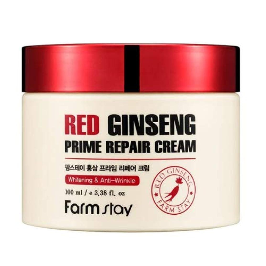 助けて後ろに君主制Farm stay Red Ginseng Prime Repair Cream 紅参プライムリペアクリーム100ml[並行輸入品]