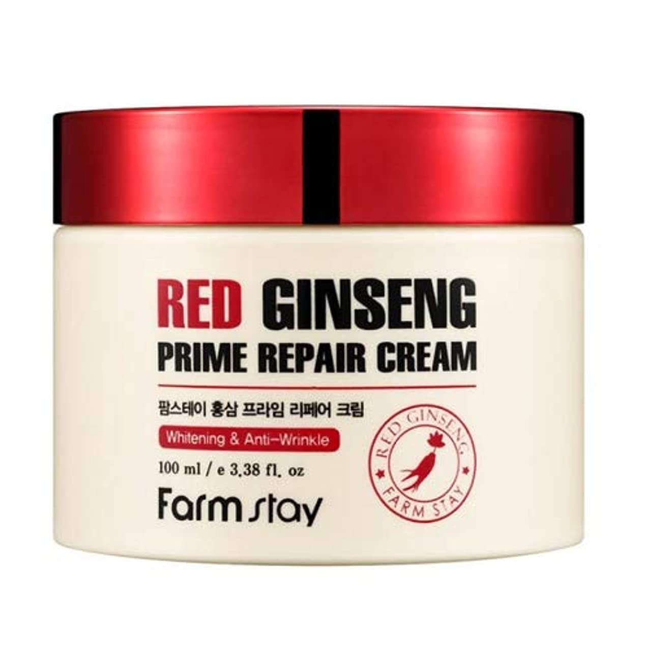 シンカン残基緩むFarm stay Red Ginseng Prime Repair Cream 紅参プライムリペアクリーム100ml[並行輸入品]