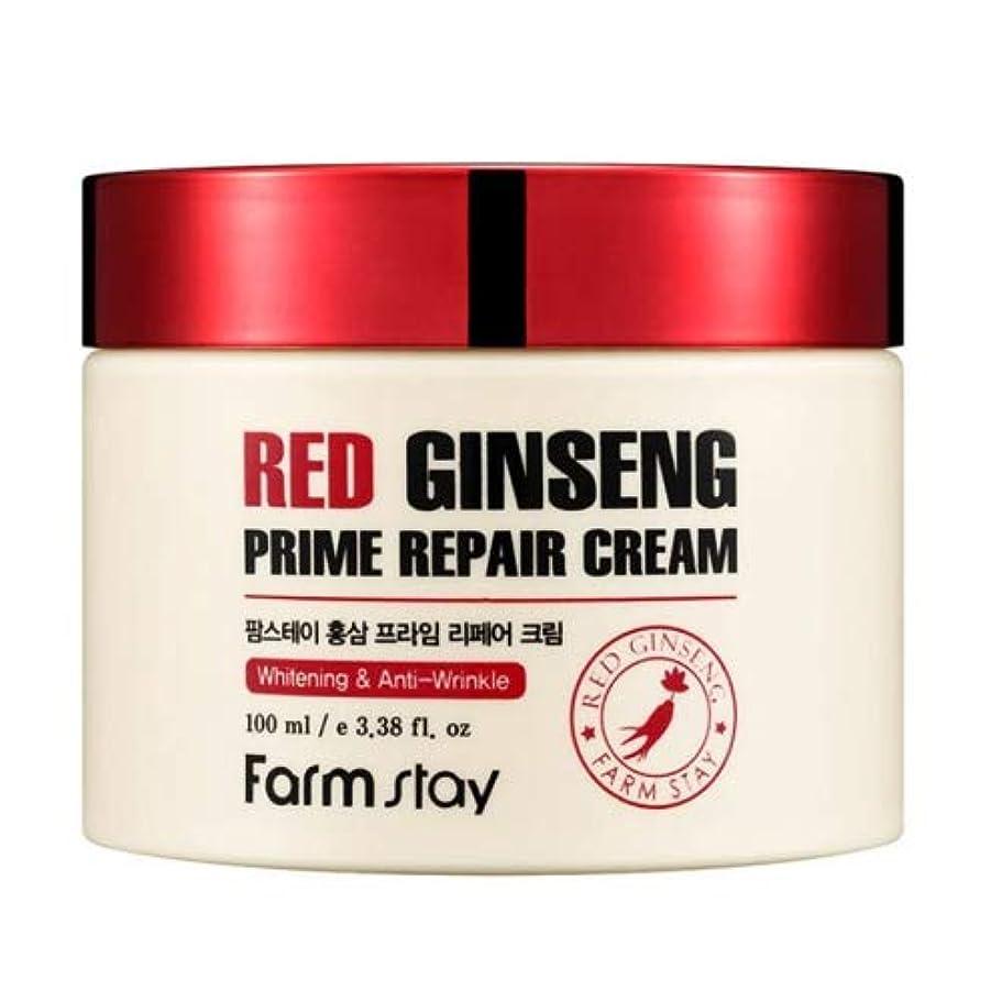 コンパス拒否形成Farm stay Red Ginseng Prime Repair Cream 紅参プライムリペアクリーム100ml[並行輸入品]