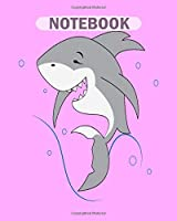 Notebook: cool shark - 50 sheets, 100 pages - 8 x 10 inches