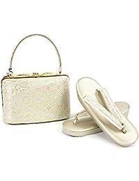 紗織謹製 草履バッグセット 金 金×銀×ピンク 23.0cm レディース
