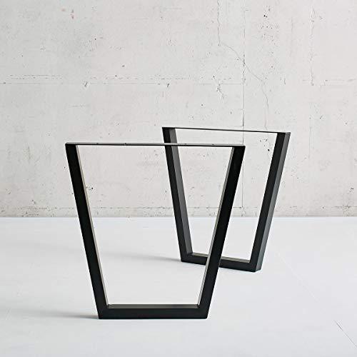 Square Tube テーブル 用 アイアン 鉄 脚 2本セット … (Trapezoid)