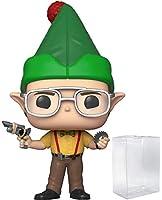 POP! TV: The Office - Dwight Schrute as Elf Pop! ビニール製フィギュア(互換性のあるポップボックスプロテクターケース付属)。