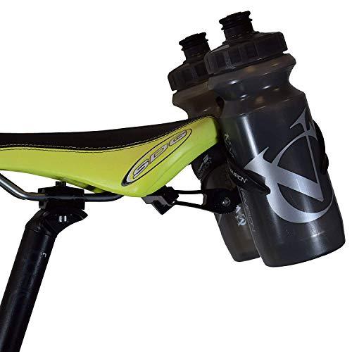VeloChampion(ベロチャンピオン)ロードバイク ボトルケージ 自転車ボトルケージ / ホルダー リアマウント サドル後ろ取付 - 調整可能な サイクリング ダブル ボトル ケージ サドル アクセサリー