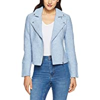 French Connection Women's The Essential Biker Jacket, Pale
