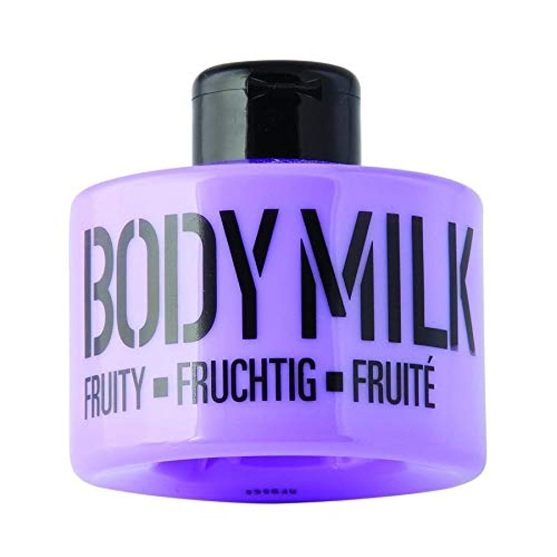 お風呂を持っている集団的グラフマデス ボディミルク パープル 300ml(フルーティ-な香り)