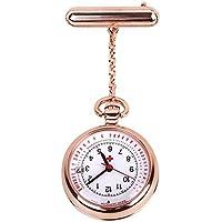 Nurse Watch Fob Pocket Watch Top Brand Quartz Brooch Medical Watch Pendants Rose Gold Silver