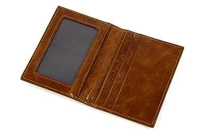 (EndMark) 本革 定期入れ ヴィンテージスタイル クリアポケット / ICカード / カードケース / パスケース