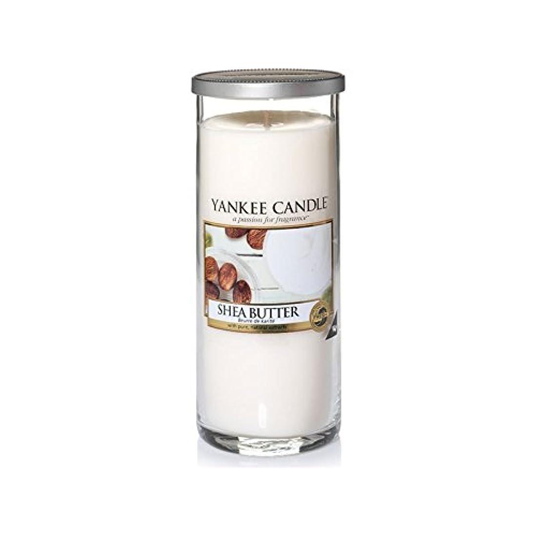 住居法廷生き残りYankee Candles Large Pillar Candle - Shea Butter (Pack of 2) - ヤンキーキャンドル大きな柱キャンドル - シアバター (x2) [並行輸入品]