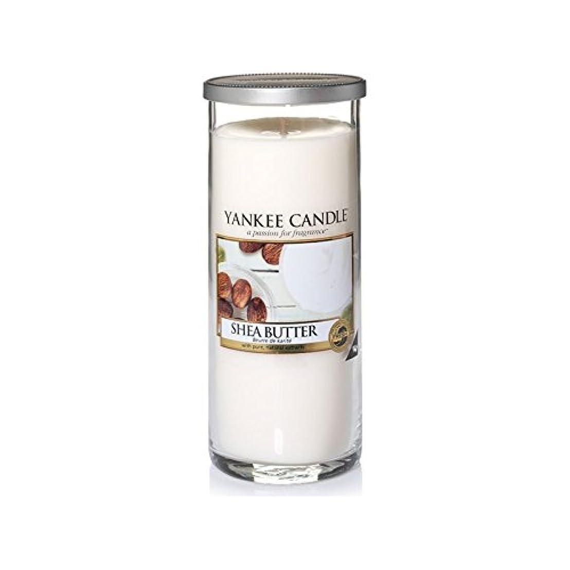 ゴール光景インサートYankee Candles Large Pillar Candle - Shea Butter (Pack of 2) - ヤンキーキャンドル大きな柱キャンドル - シアバター (x2) [並行輸入品]