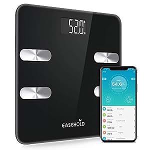 【スマホ連動 体重計】EASEHOLD 体重計 体組成計 体脂肪計 体脂肪/体水分/筋肉量/BMIなど18項健康指標 Phone/Androidアプリで健康管理 日本語対応アプリ 赤ちゃんの体重計算可能