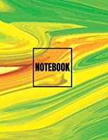Notebook: Green Art Cover (8.5 X 11) Inches 110 Pages, Blank Unlined Paper for Sketching, Drawing, Whiting, Journaling & Doodling