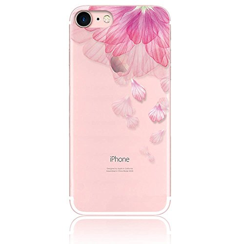 iPhonese iPhone5 iPhone5s tpu ケース CrazyLemon 薄型 一体型 ソフト TPU シリコン アイフォンse アイフォン 5 5s ケース ピンク 花 花びら 絵柄 クリア 透明 可愛い おしゃれ フィット感いい 耐衝撃 防圧