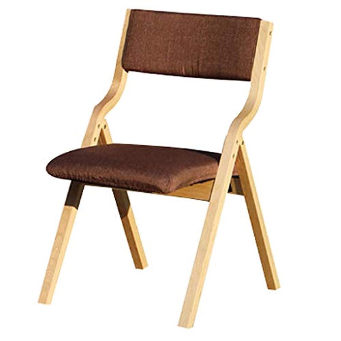 容疑者マニアラメJTWJ ホームダイニングチェアカーブした木の布のバッグチェアバックチェア小さな椅子レジャーチェア屋外椅子シンプル (色 : Coffee color)