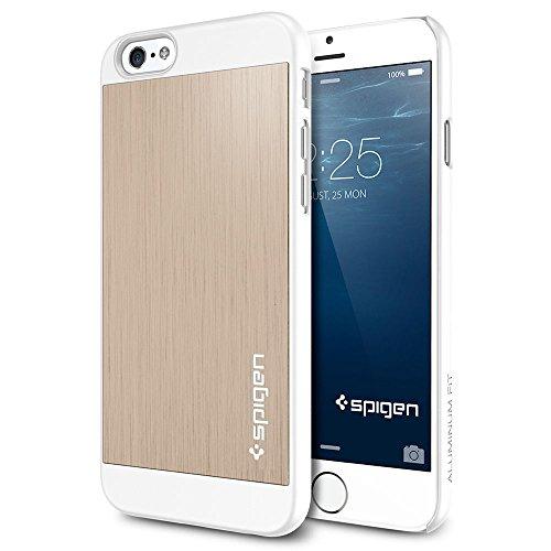 iPhone 6 ケース, Spigen® [ アルミパネル ] Apple iPhone 4.7 (2014) アルミニウム フィット The New iPhone アイフォン6 (国内正規品) (シャンパン・ゴールド 【SGP10945】)