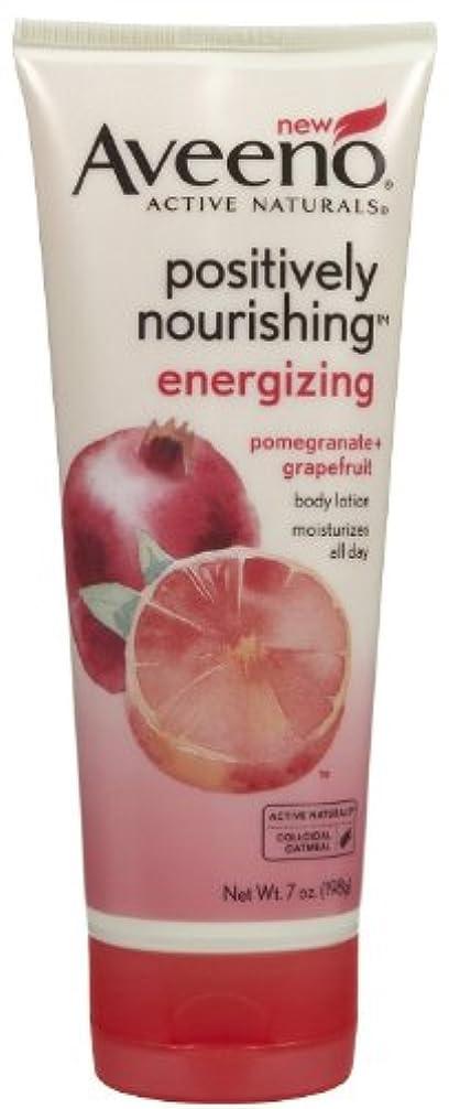 ピット外国人光沢Aveeno Positively Nourishing Energizing Lotion, 7 Ounce