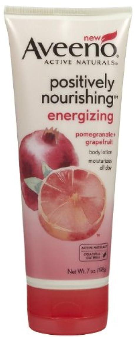 リボン正しい変位Aveeno Positively Nourishing Energizing Lotion, 7 Ounce
