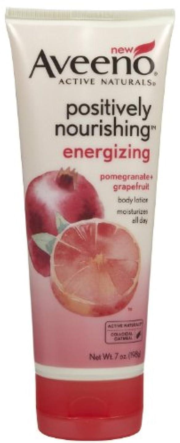 悪名高い行商人協力Aveeno Positively Nourishing Energizing Lotion, 7 Ounce