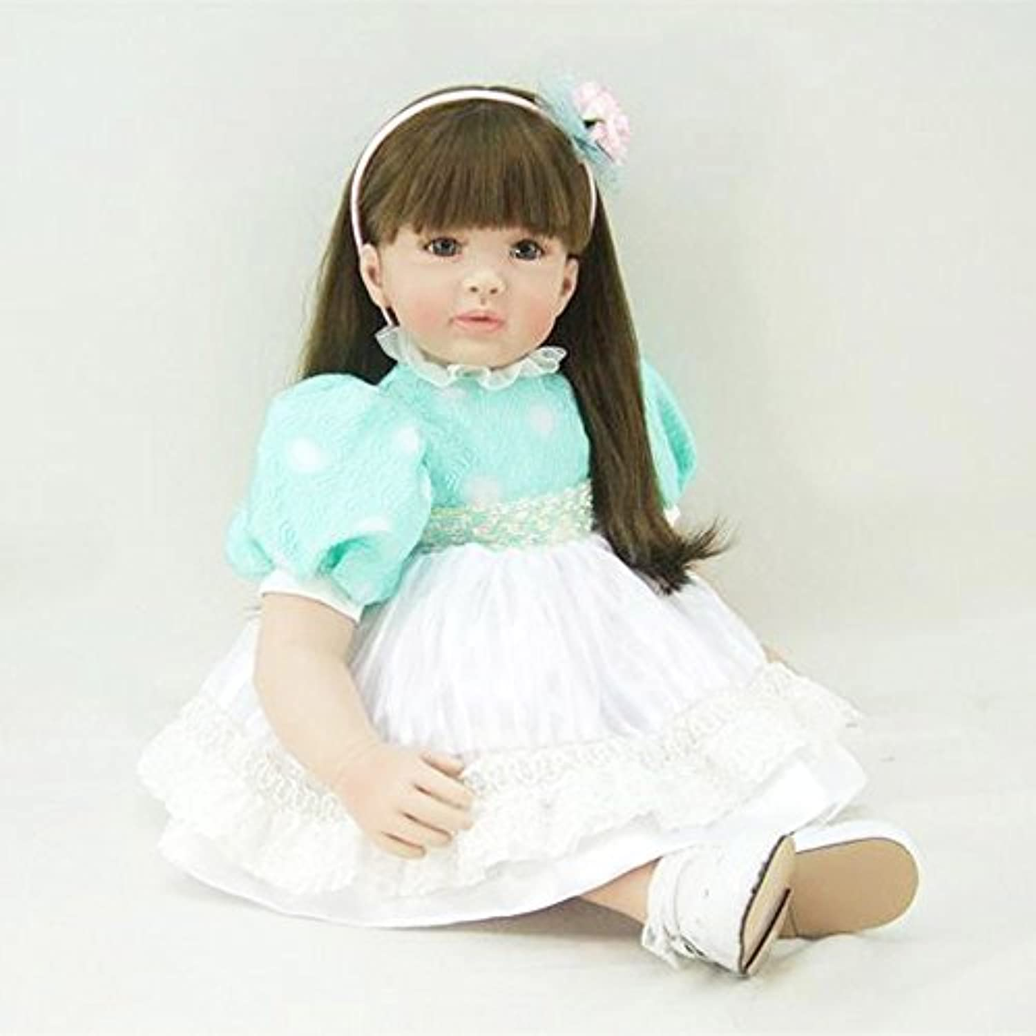 PursueベビーソフトボディリアルタッチLifelike Princess Girl Doll withライトブラウン目、24インチリアルなWeighted幼児用ベビー人形for Girls and大人