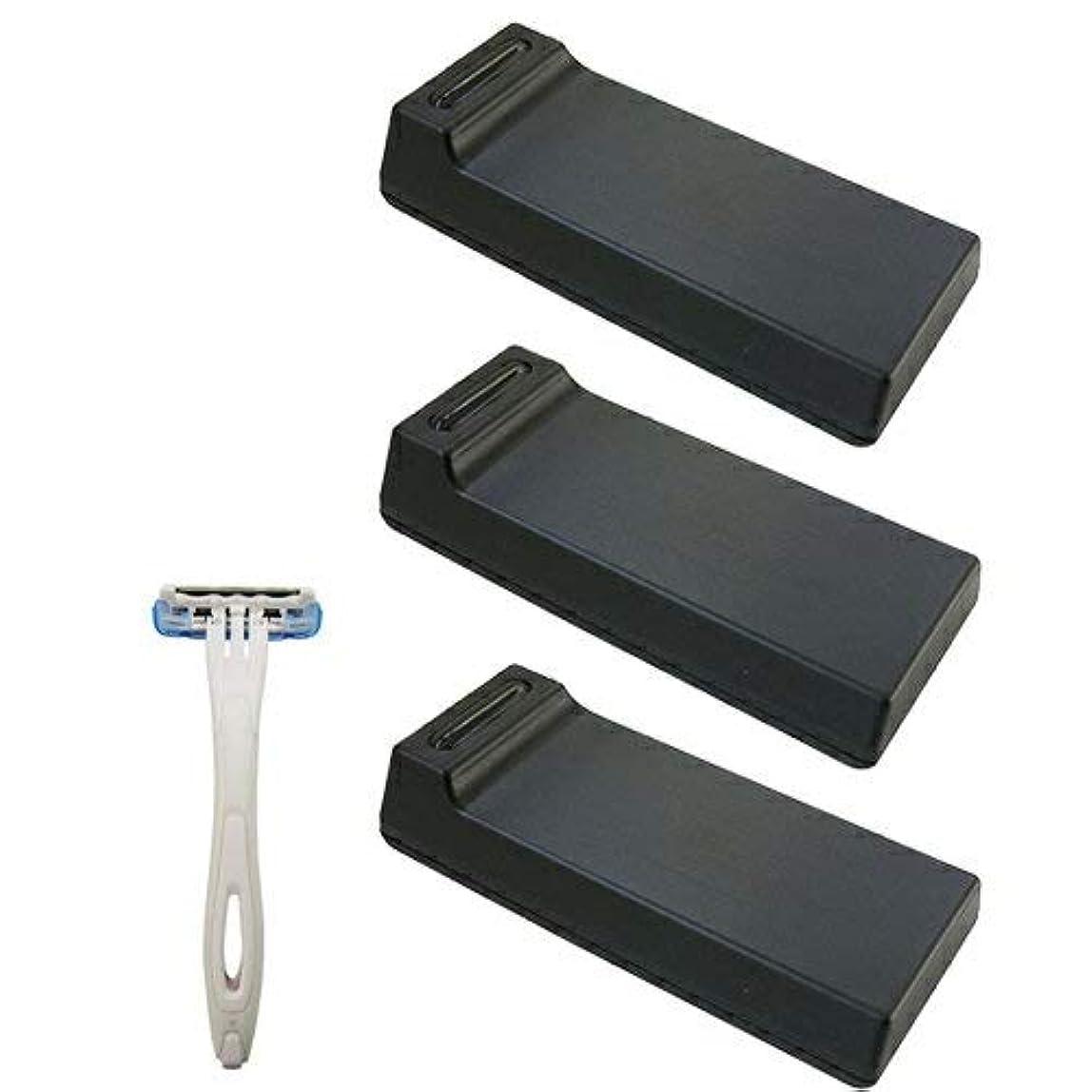 爬虫類葉っぱ間違っている【3個セット】 カミソリ刃クリーナー BladeTech ブレードテック + 貝印 使い捨てカミソリ3枚刃