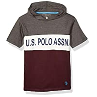 U.S. Polo Assn. Boys' Short Sleeve Hooded Popover T-Shirt