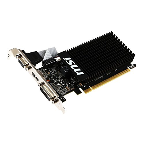 MSI NVIDIA GeForce GT 710搭載グラフィックボード ロープロファイル対応 ファンレス・メモリ2GBモデル GT710 2GD3H LP