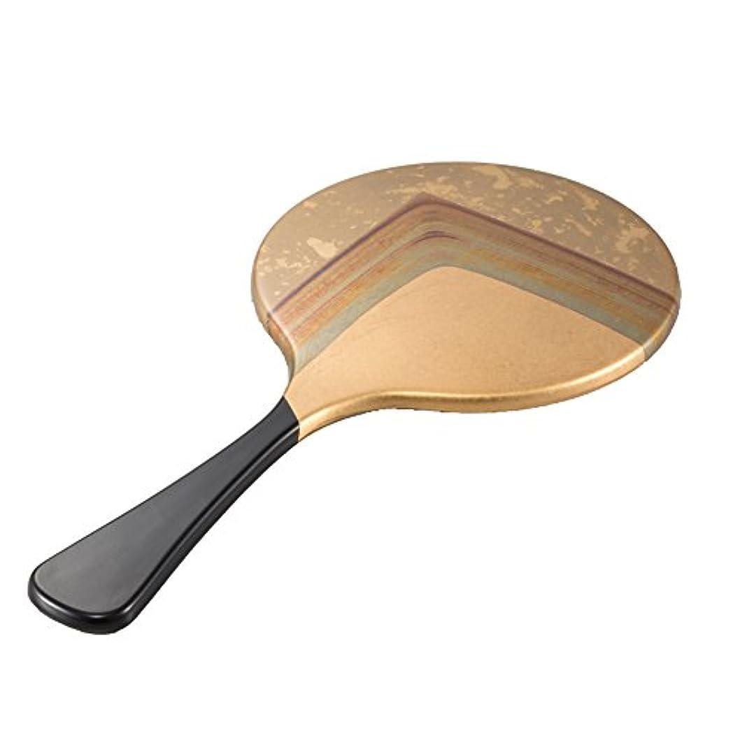 九ブランド名気性箔一 鏡 ゴールド 260×130×5mm 古代箔 手鏡 A135-02006