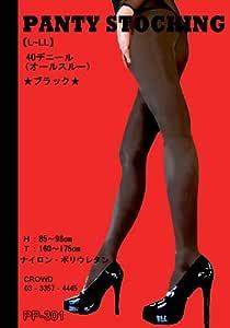 光沢オールスルーパンスト40D(L~LL)ブラック