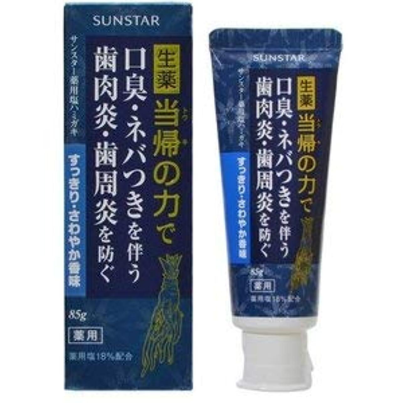 溶ける存在微視的サンスター薬用塩ハミガキ 当帰の力すっきりさわやか香味 85g (医薬部外品) × 10点