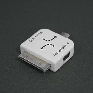 【iPhone4S対応】miniUSBからmicroUSBとドック変換Syncコネクタ