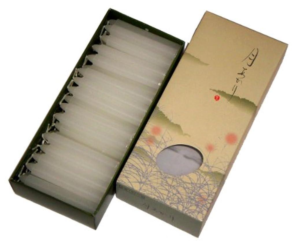 スキム不十分取得東海製蝋のろうそく 月あかり 太40分約68本