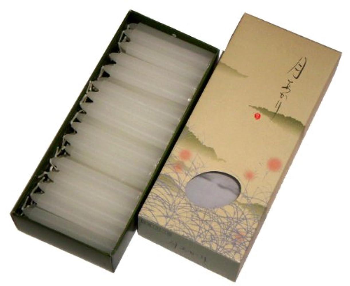 作者フロント望ましい東海製蝋のろうそく 月あかり 太40分約68本