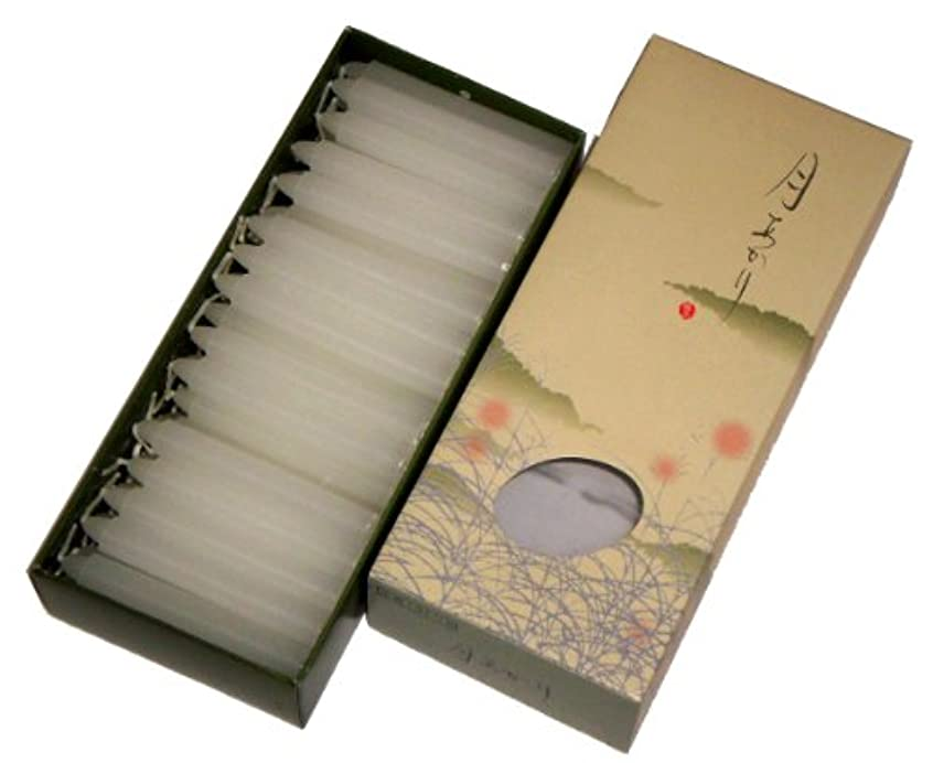 不利自治的コントラスト東海製蝋のろうそく 月あかり 太40分約68本