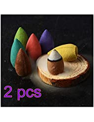 ASSR 250個Backflow Incense Cones、ラベンダーローズOsmanthusジャスミンお香グリーンティーサンダルウッドミックス自然Fragrant円錐Deodorization