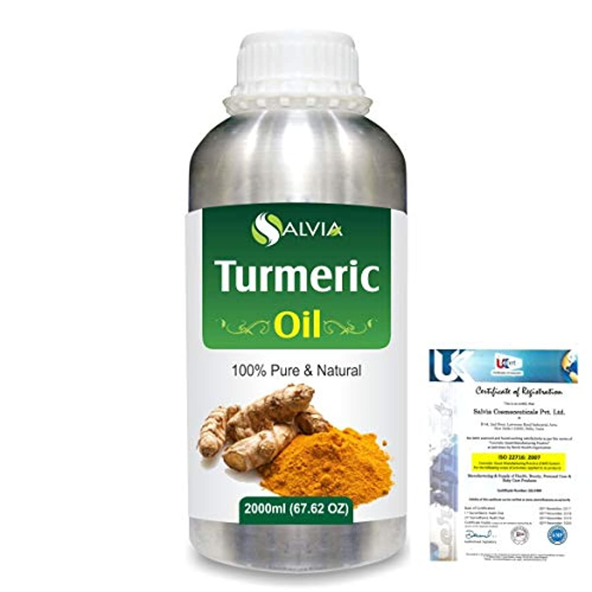 政策近代化する雨Turmeric (Curcuma Longa) 100% Pure Natural Essential Oil 2000ml/67 fl.oz.