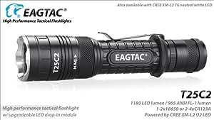 Eagletac イーグルタック T25C2 Cree XM-L2 LED Cool White (6500k) 【 明るさMAX : 965 lumen / 使用電源:2xCR123A, 2xRCR123A, 1x18650 】