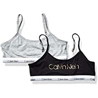 CALVIN KLEIN Girls Modern Cotton Bralette Base Layer Top - Multi - Medium