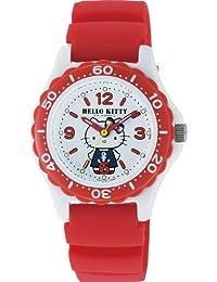 [シチズン キューアンドキュー]CITIZEN Q&Q 腕時計 Hello Kitty (ハローキティ) ダイバー アナログ表示 10気圧防水 ホワイト VQ75-232 レディース