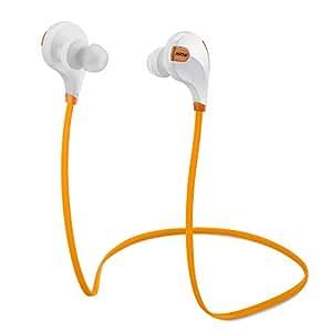 Mpow Swift Bluetooth 4.0 イヤフォン ワイヤレスステレオヘッドセット aptX付 (オレンジ)