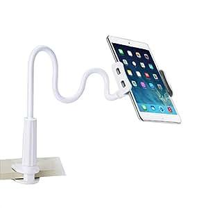 AKEIE スマホ & タブレット スタンド or ホルダー 4〜10.5インチ対応 フレキシブルアーム付き 4〜10.5インチ for iphone ipad mini ipad air2 REGZA Xperia Galaxy SONY Kindle (ホワイト)