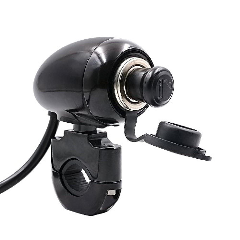 工業用ロータリー恵み12V-24V オートバイ用メタルシガレットライター 充電パワーリフィッティングパーツ ハーレー モディフィー用 ヒューズ付き 70cm ラインの長さ 22mm ブラック PEC0000095