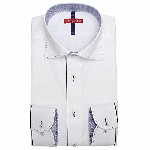 ドレスシャツ 形態安定 長袖 ワイシャツ Yシャツ ワイドカラー
