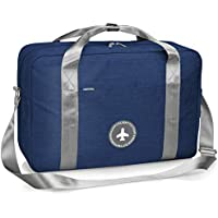 Weekender Bag Lightweight Overnight Carry on Shoulder Bag with Tag and Strap in Trolley Handle