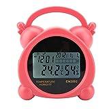 5 in 1デジタル温度計 湿度湿度計の温度テスト 目覚まし時計機能 ホーム/オフィス利用 高精度